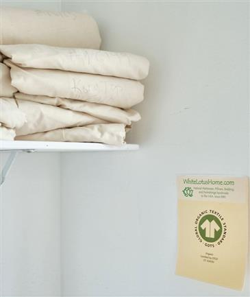 """White Lotus Home GOTS Organic Cotton Twill Fabric in NATURAL 92"""" Wide"""
