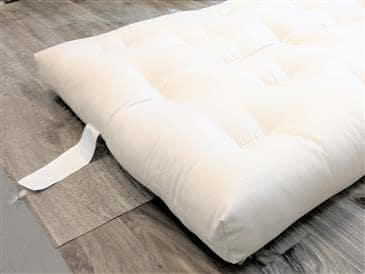 White Lotus Home Green Cotton Foam Core Stow