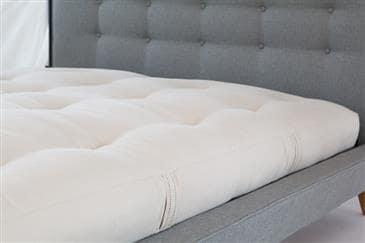 White Lotus Home Green Cotton Latex Core Mattress with Fire Retardant