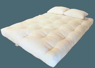White Lotus Home Green Cotton and Wool Foam Dreamton Futon