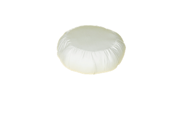 White Lotus Home KAPOK filled ZAFU Meditation Pillow in Barrier Cloth Fabric - WLH C