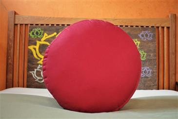 White Lotus Home KAPOK filled ZAFU Meditation Pillow in Pure Cotton Twill Fabric - WLH B