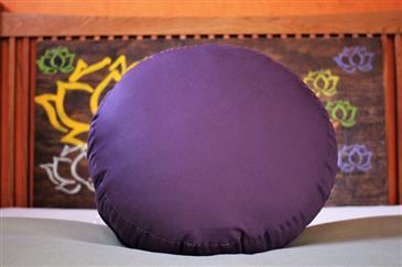 White Lotus Home KAPOK filled ZAFU Meditation Pillow in Sateen Fabric - WLH E