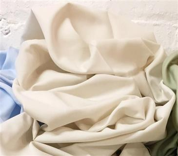"White Lotus Home GOTS Organic Cotton Sateen Fabrics in NATURAL 112"" Wide"