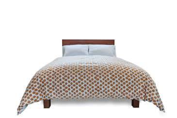 White Lotus Home Organic Cotton Sateen Print Duvet Covers w/Natural Sateen (WLH E)