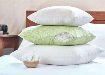 White Lotus Home Organic Wool Decorative Pillow Inserts