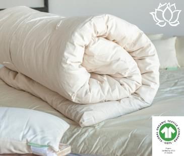 White Lotus Home Organic Wool Topper