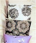 Bed Pillow Covers in Organic Cotton Sateen Prints or Solids