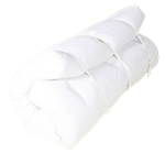 White Lotus Home Green Cotton and Wool Latex Dreamton Futon