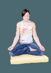 Cotton ZABUTON - Meditation Pillow Insert Only
