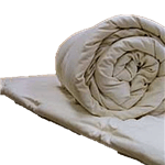White Lotus Home Wool Topper in 100% Cotton Case