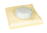 White Lotus Home ZABUTON Meditation Pillow Covers only in Pure Cotton Sateen Fabric WLH D